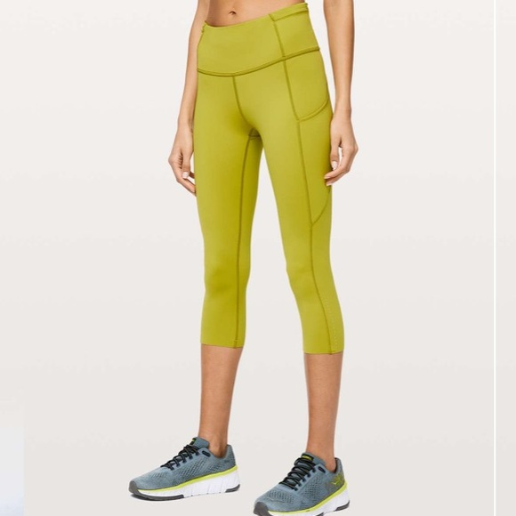 "Lululemon Fast and Free HR Crop 19"" - Size 12"
